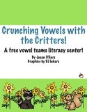 FREE Vowel Digraphs Literacy Center