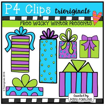 FREE Winter Presents (P4 Clips Trioriginals Digital Clip Art)