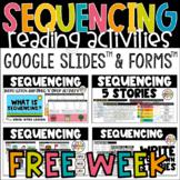 FREE WEEK Sequencing Digital Reading Activities Google Slides™ & Google Forms™