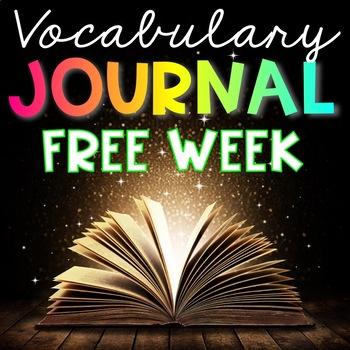 FREE WEEK-  Vocabulary Journal - Interactive Notebook