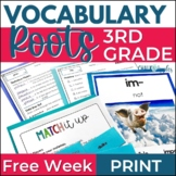 FREE WEEK of 3rd & 4th Grade Vocabulary - Greek & Latin Roots