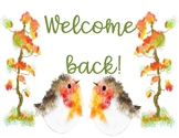 FREE WELCOME BACK SIGN ~ FALL WATERCOLOR
