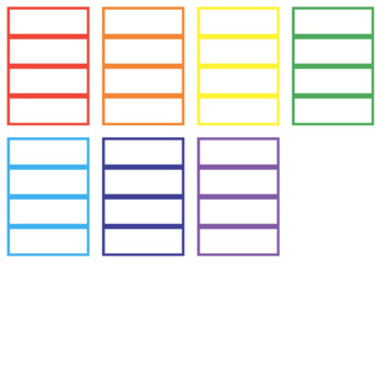 FREE: WORD WALL CARD TEMPLATE (rainbow, 4 per page)