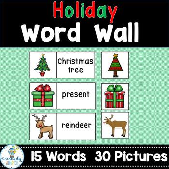 FREE WORD WALL-December Holidays