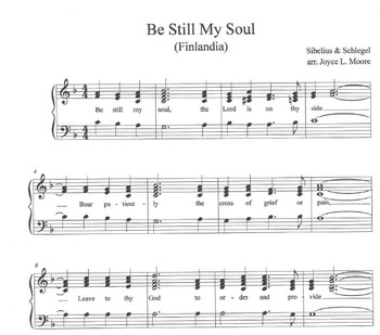 FREE WORSHIP HYMN Easy Tone Chimes & Bells BE STILL MY SOUL (Tune:  Finlandia)