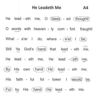FREE WORSHIP HYMN Easy Tone Chimes & Bells HE LEADETH ME