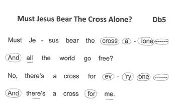 FREE WORSHIP HYMN Easy Tone Chimes & Bells MUST JESUS BEAR THE CROSS ALONE?