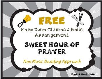 FREE WORSHIP HYMN Easy Tone Chimes & Bells SWEET HOUR OF PRAYER