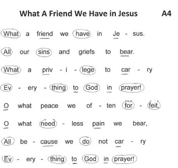FREE WORSHIP HYMN Easy Tone Chimes & Bells WHAT A FRIEND WE HAVE IN JESUS