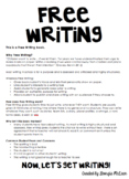 FREE WRITING Title Page / Information Sheet