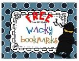 FREE Wacky Bookmarks