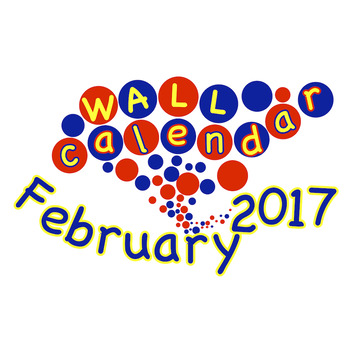 FREE Wall Calendar - February 2017 | Weather Cards and Monthly Weather Graph