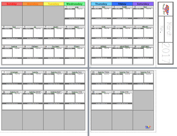 FREE Wall Calendar - March 2017 | Weather Cards and Monthly Weather Graph