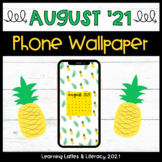FREE Wallpaper Background August 2021 Pineapple Phone Wall