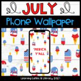 FREE Wallpaper Background July 'Merica Phone Calendar July
