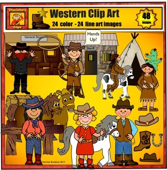 Howdy Partners! - New Western Clip art by Charlotte's Clips