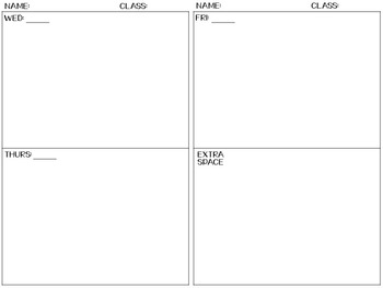 FREE Warm Up Template for Interactive notebook