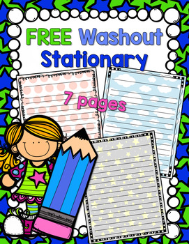 FREE Washout Stationary