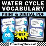 FREE Water Cycle Task Cards Science Distance Learning Scavenger Hunt Games
