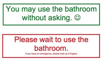 FREE Water Fountain & Bathroom Procedures: 9 pages of tips + 2 printable signs!