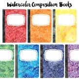 Watercolor Composition Book Clip Art