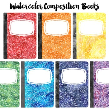 FREE Watercolor Composition Book Clip Art