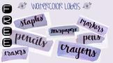 FREE Watercolor Labels Printable