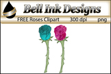 FREE Watercolor Rose Clipart