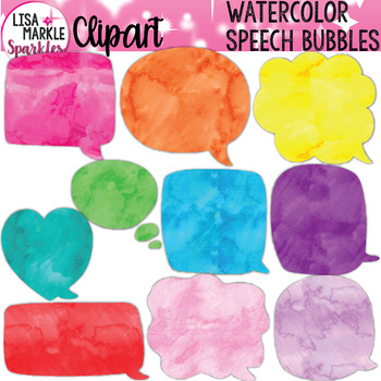 FREE Watercolor Speech Bubble Clipart