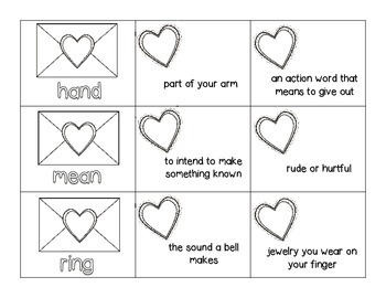 FREE: We Love Multiple Meaning Words - A QUICK-PRINT Valentines Activity