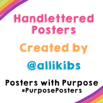 picture regarding Give Me Five Poster Printable Free referred to as Totally free 18x 24 We Ought to Higher 5 Posters with Rationale TpT