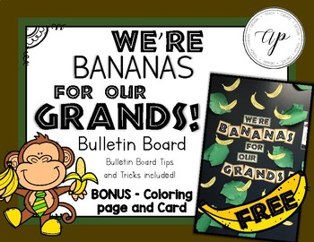 FREE We're Banana's For Our Grands