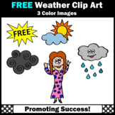 FREE Weather Clip Art Sampler, Rain, Clouds, Girl Commercial Use SPS