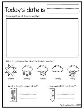FREE Weather Journal (1st Grade)