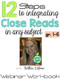 FREE Webinar Training Workbook: 12 Steps to Integrating Cl