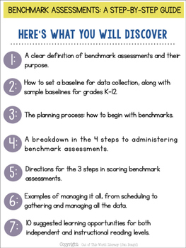 FREE Webinar Workbook: Benchmark Assessments: A Step-by-Step Guide