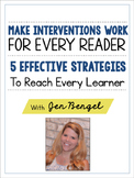FREE Webinar Workbook: Make Interventions Work for Every Reader