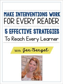 FREE Webinar Workbook: Make Interventions Work for Every Reader