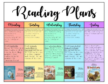 FREE Week of Reading Plans