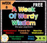 FREE Week of Words - Week 8