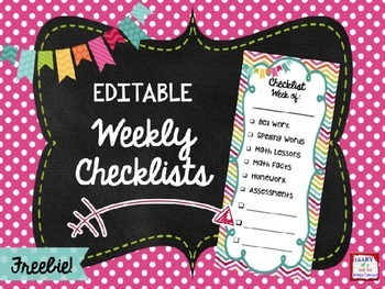 FREE Weekly Checklists