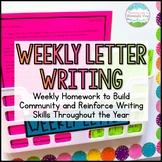 FREE Weekly Letter Writing Homework