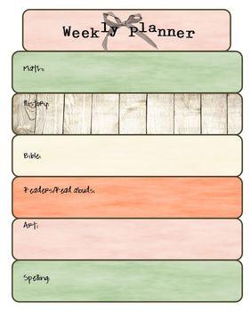 FREE Weekly Planner
