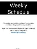 FREE Weekly Schedule!!