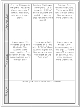FREE Weekly Word Problems May {4th Grade Edition}