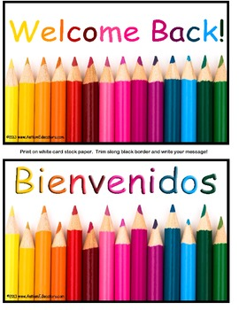 FREE Welcome Back To School Postcards