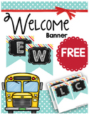 FREE Welcome Banner - Back to School - Polka Dots