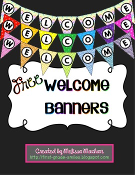 FREE Welcome Banners