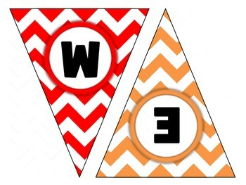FREE Welcome Pennant with Chevron background