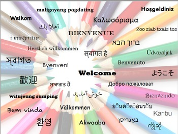 FREE Welcome Poster in Multiple Languages (editable)